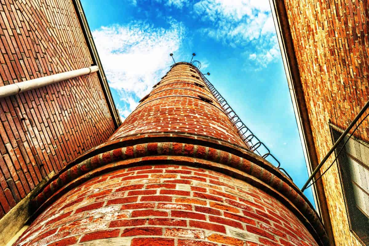 architecture, building, high, construction, chimney, roof, sky, tower