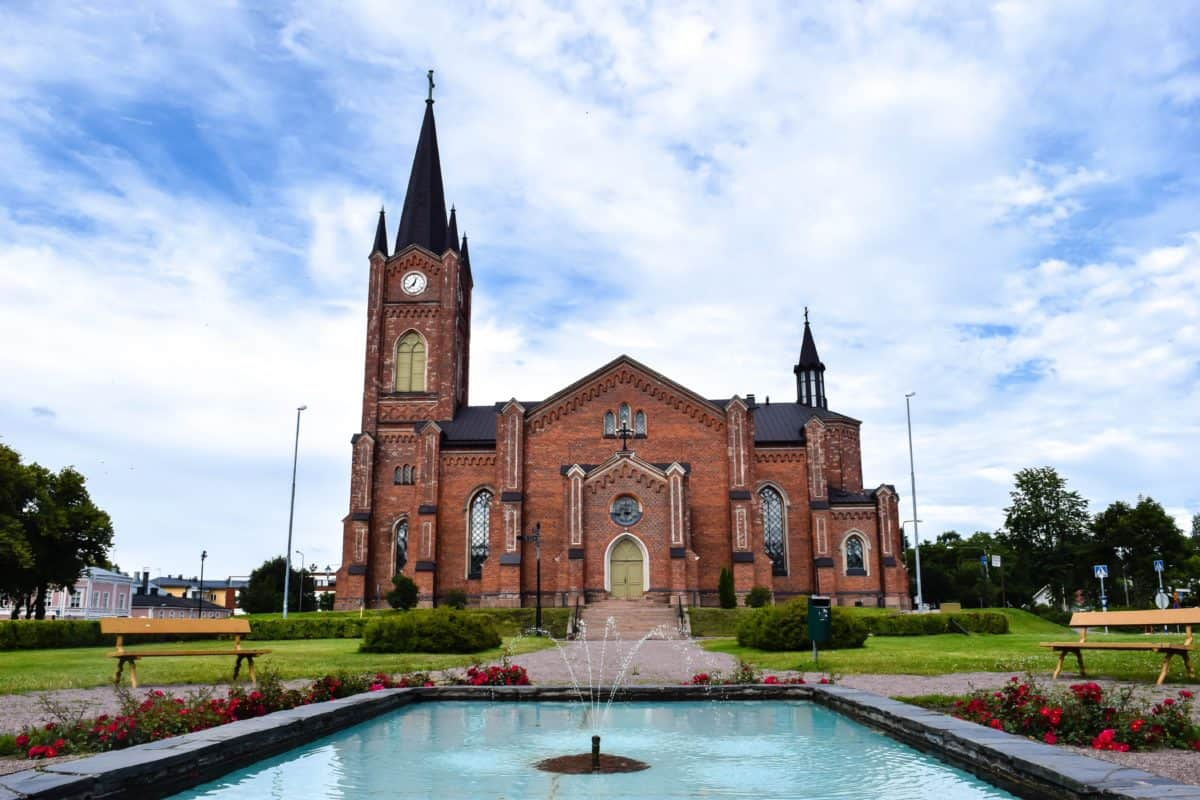 catholic church, water, architecture, cathedral, tower, city, old, landmark