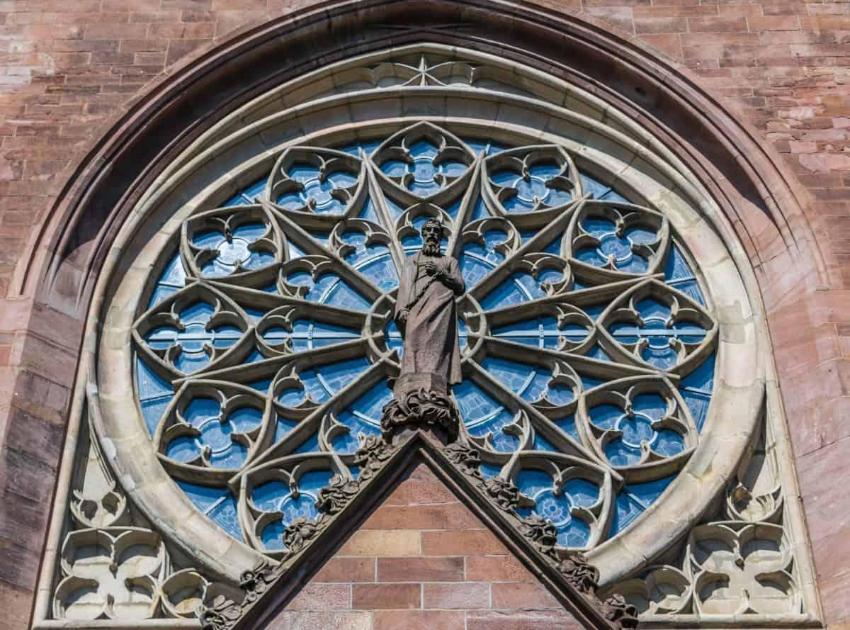 Iglesia, ventana, fachada, Catedral, arquitectura, religión, ciudad