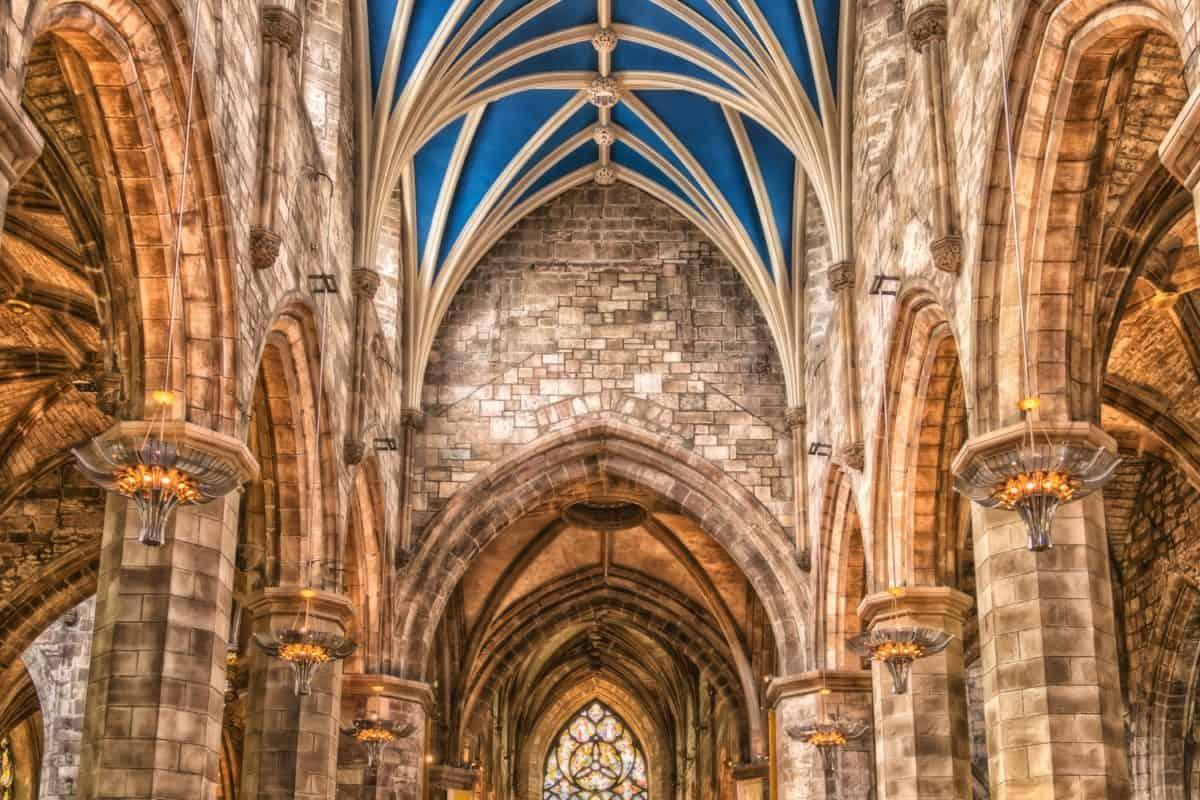 Cathédrale, vieille, catholique, religion, église, toit, architecture