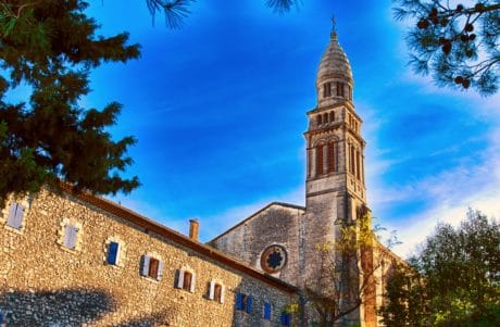 vieux, tour, architecture, ciel, clocher, ville, monastère, résidence
