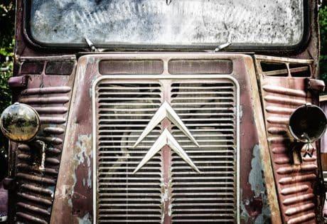 Retro, nostalgia, clásico, antiguo, moho, viejo, coche