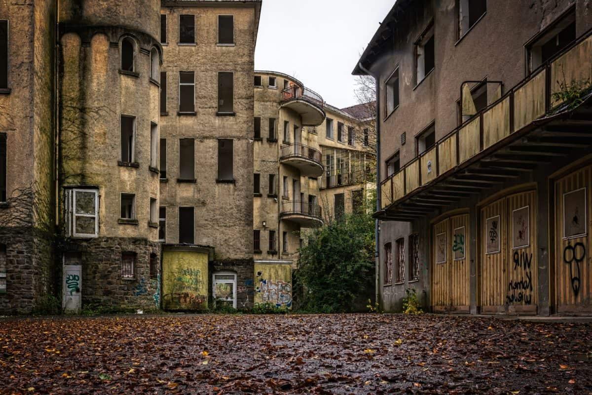 edificio, fachada, arquitectura, calle, planta, terraza