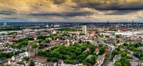 architecture, panorama, nuage, ville, paysage urbain, ville, ciel, plein air
