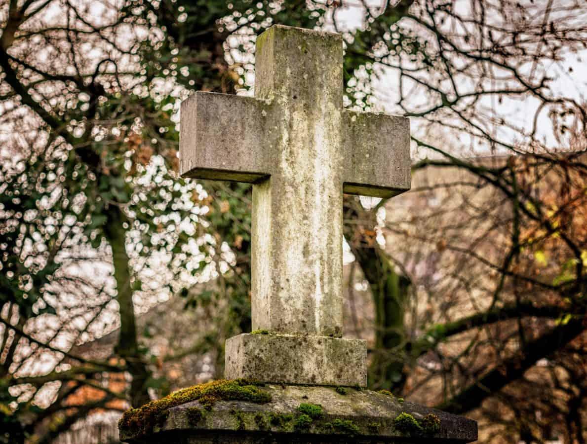 stone, cross, cemetery, tree, grave, nature, wood, tombstone