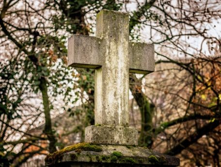 stone, cross, cemetery, tree, grave, nature, wood, tombstone