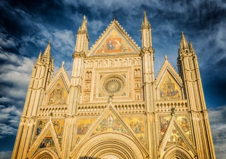 cathedral, architecture, religion, facade, church, sky, outdoor