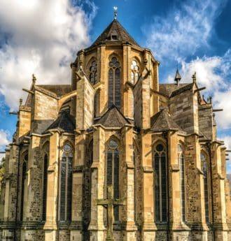 Древна, града, катедралата, религия, стари, архитектура, църква, фасада