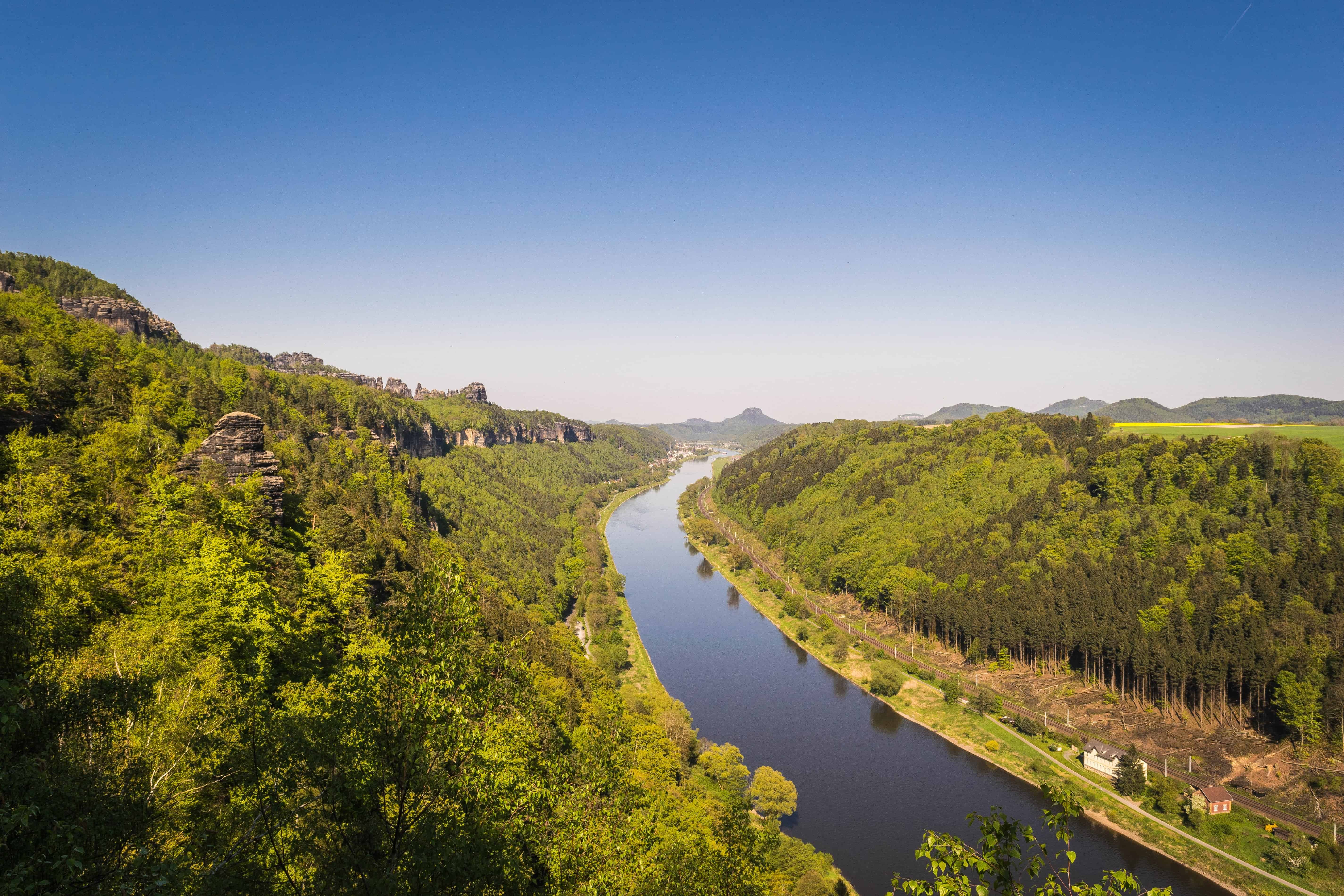Free picture: river, landscape, nature, blue sky, water