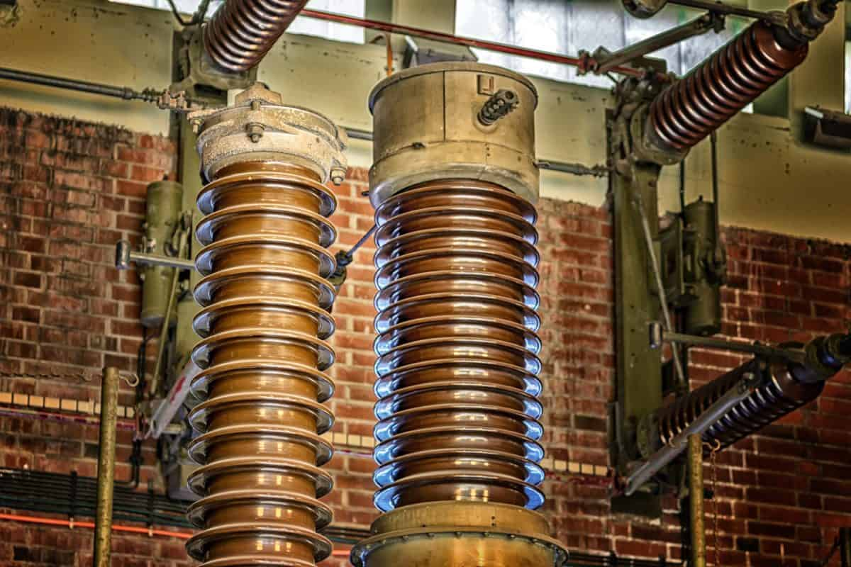El, kabel, spänning, fabrik, keramik, isolator
