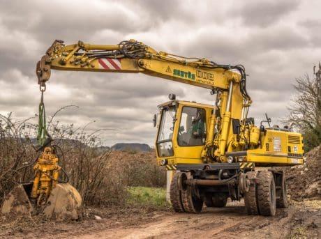 macchina, suolo, veicolo, bulldozer, macchinario, industria