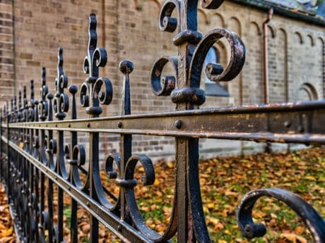 iron, gate, old, security, fence, architecture, outdoor, metal