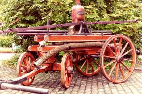 carriage, antique, vehicle, wood, mechanical, pump, transport