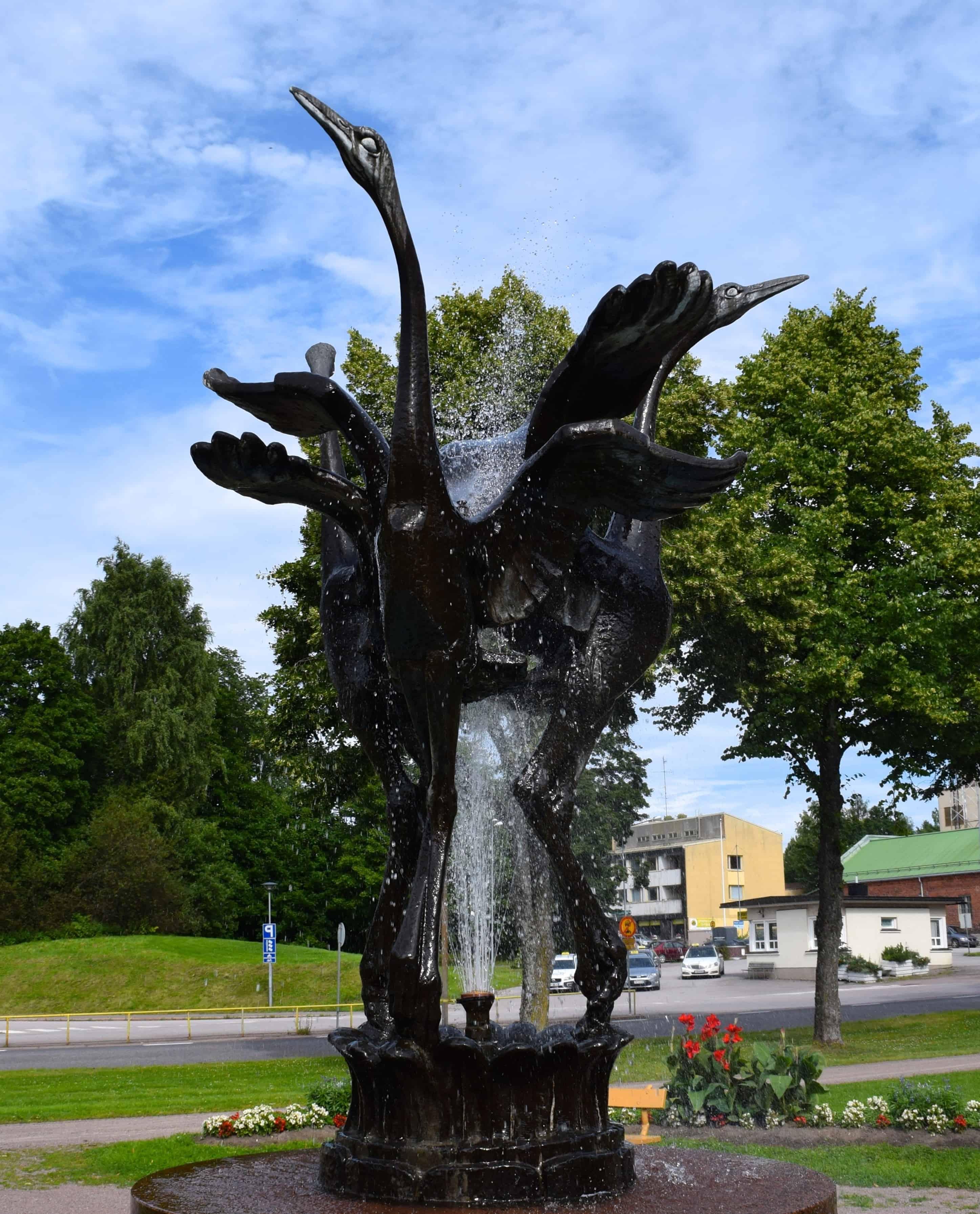kostenlose bild: statue, skulptur, bronze, baum, brunnen, struktur