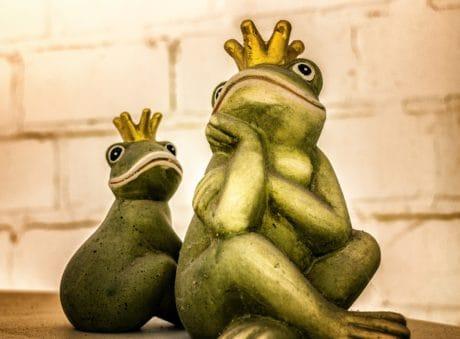 grenouille, objet, prince, sculpture, statue, art, détail