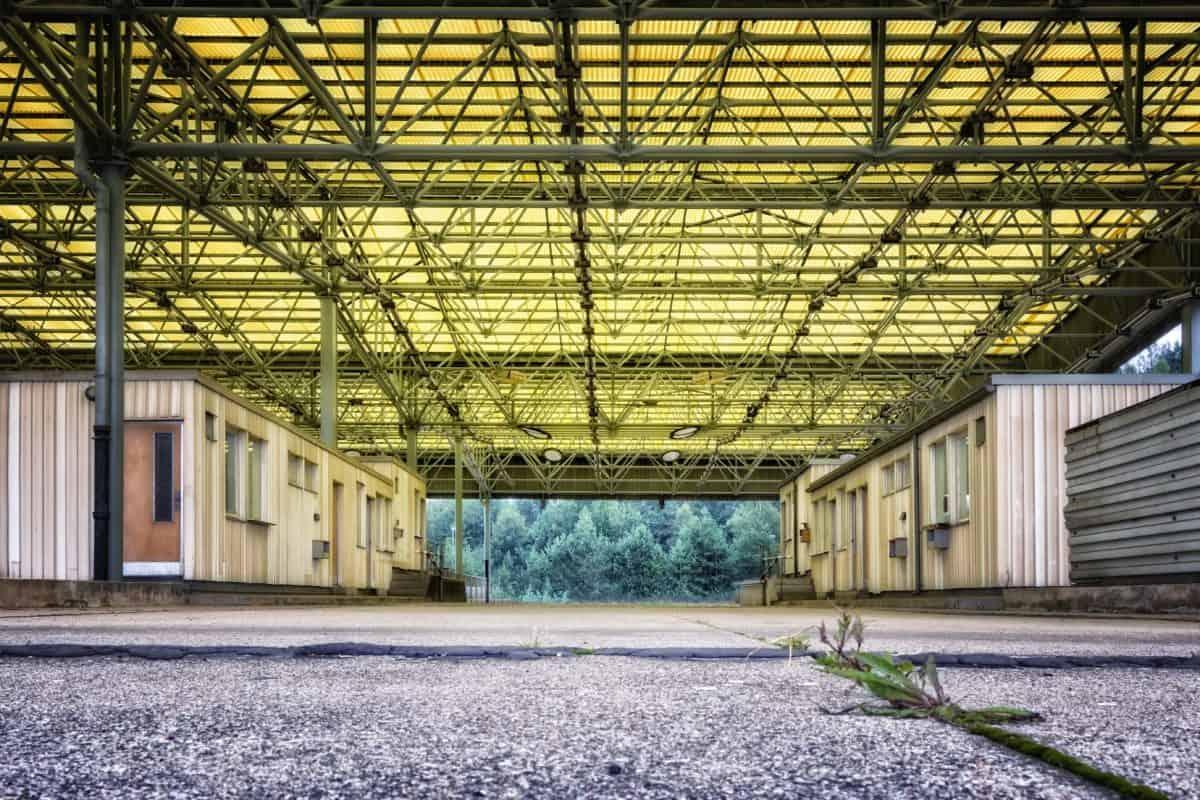 fabbrica, magazzino, architettura, struttura, costruzione, acciaio