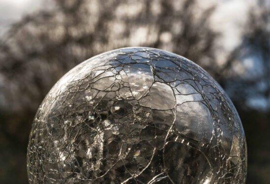 glass, reflection, sphere, daylight, object, crystal