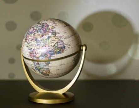 mapa, objeto, geografía, esfera, globo, sombra