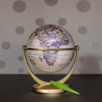 Geografía, mapa, esfera, tierra, globo, objeto