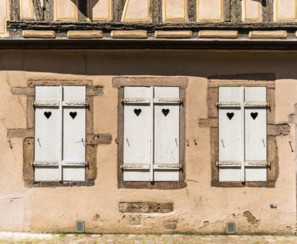 facade, architecture, house, old, window, brown, wall