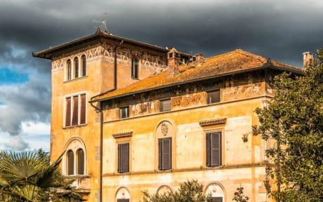viejo, casa, cielo, arquitectura, fachada, residencia
