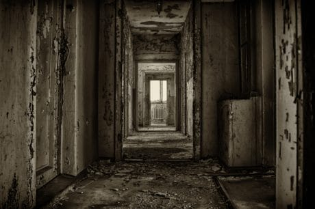 dark, old, door, derelict, shadow, darkness, doorway, architecture