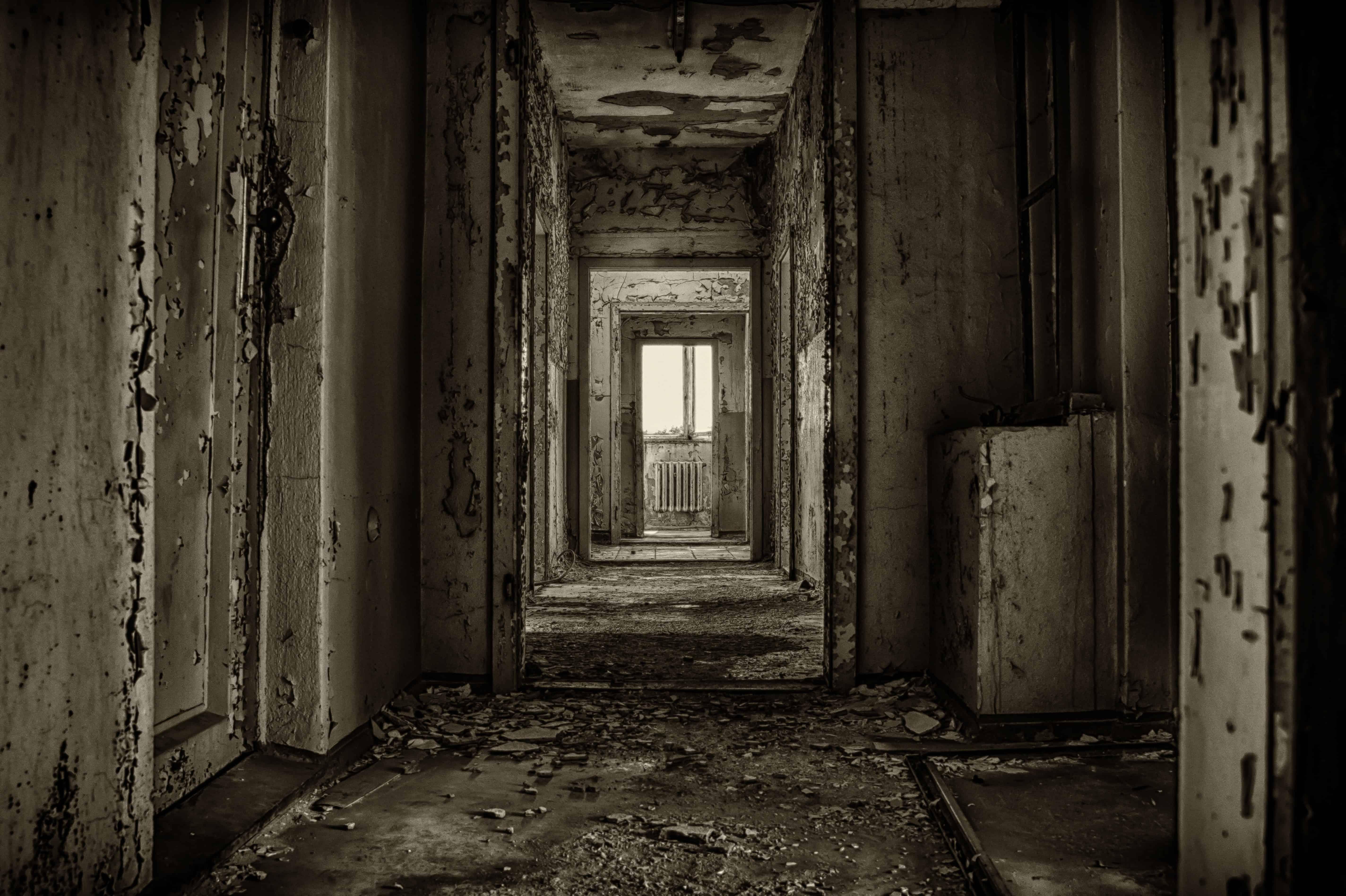 Free Picture Dark Old Door Derelict Shadow Darkness