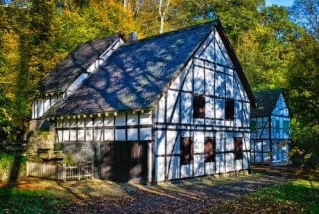 wood, architecture, tree, house, structure, barn, facade
