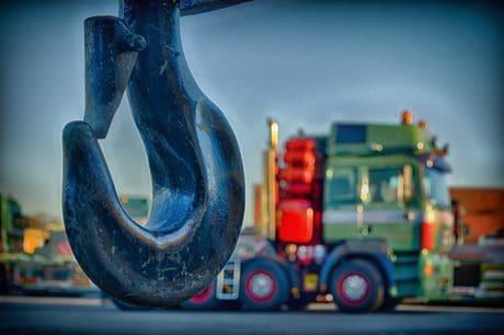 crochet, métal, cargaison, camion, transport, fer, objet, acier