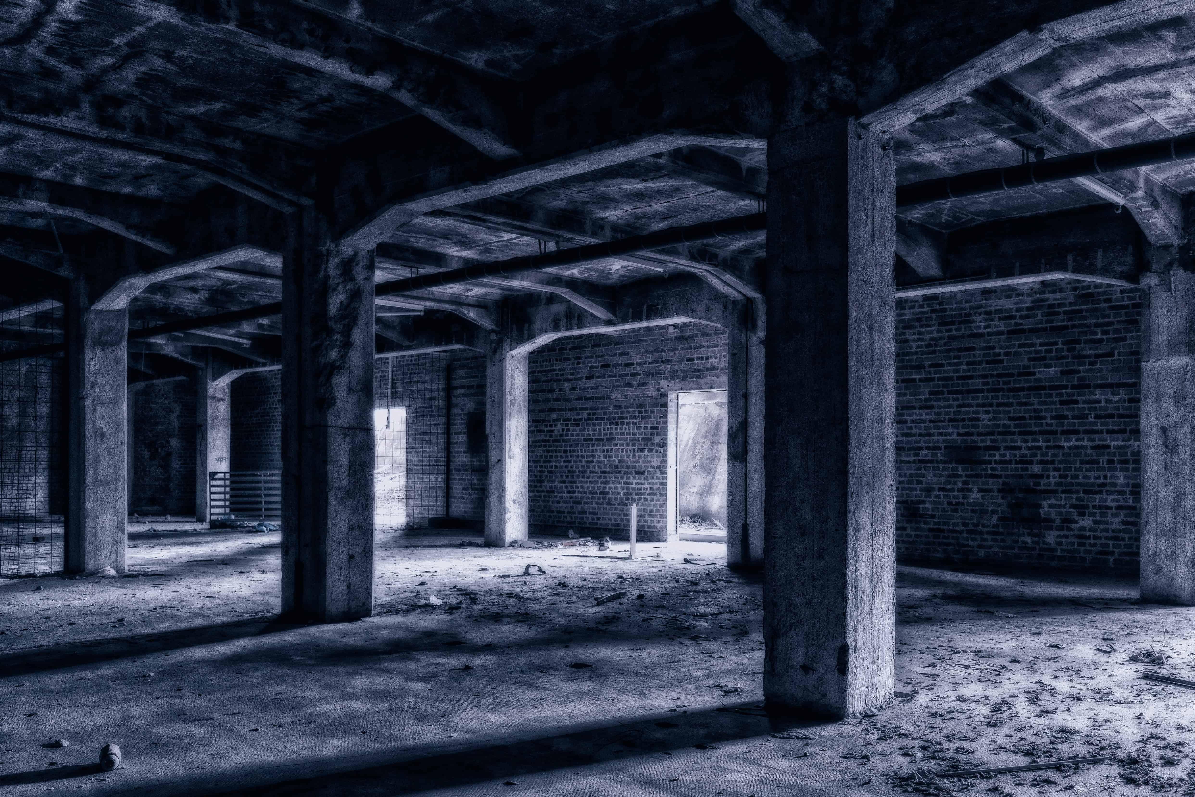 Free Picture Architecture Monochrome Dark Garage Old