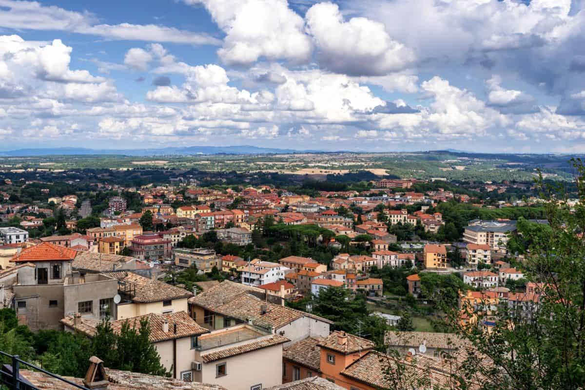 panorama urbain, centre-ville, ville, ville, toit, maison, architecture, ciel