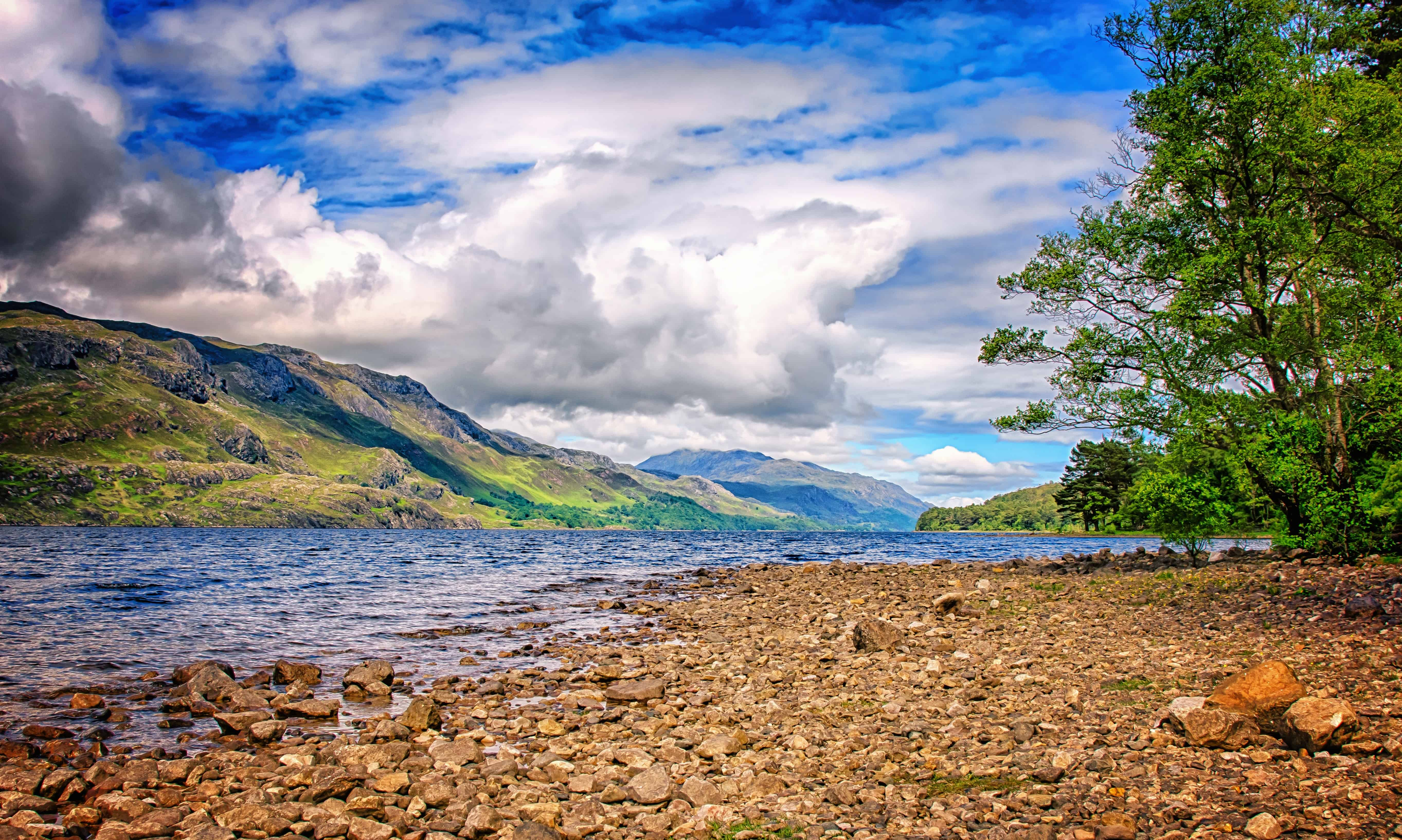 landscape, water, river, nature, mountain, sky, outdoor, coast