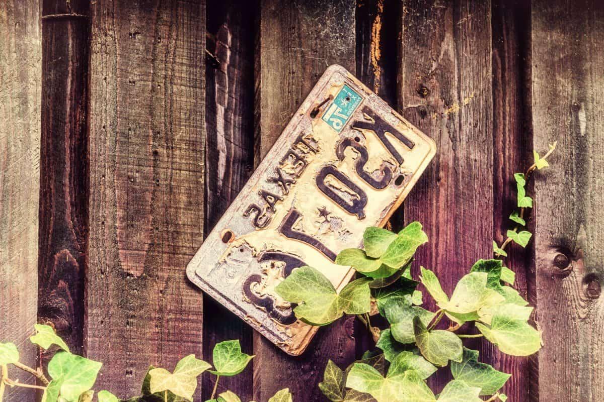 регистрационен номер, дърво, стари, знак, метал, обект