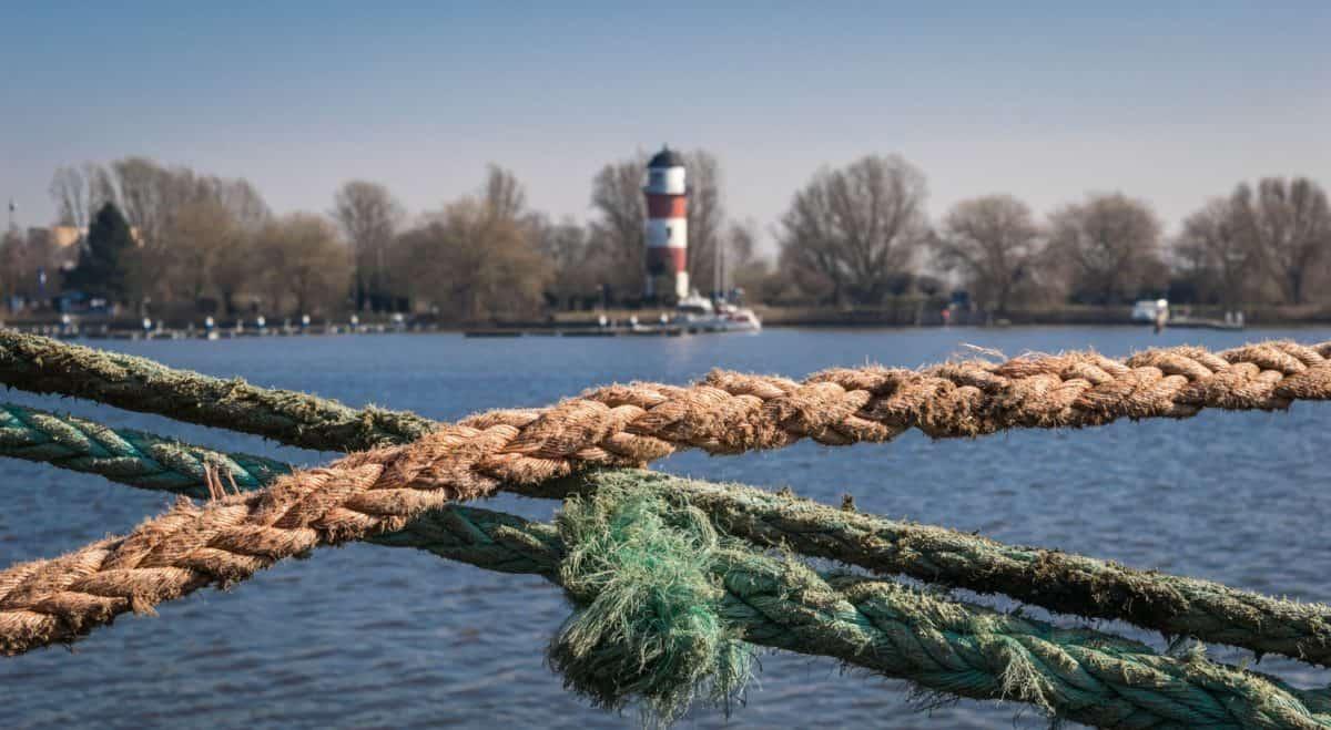 touw, object, detail, water, lake, landschap, outdoor, sky