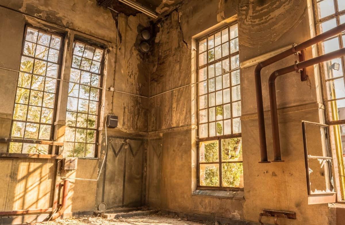 ventana, casa, arquitectura, antiguo, interior
