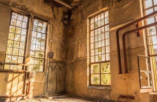 fenêtre, maison, architecture, ancien, intérieur