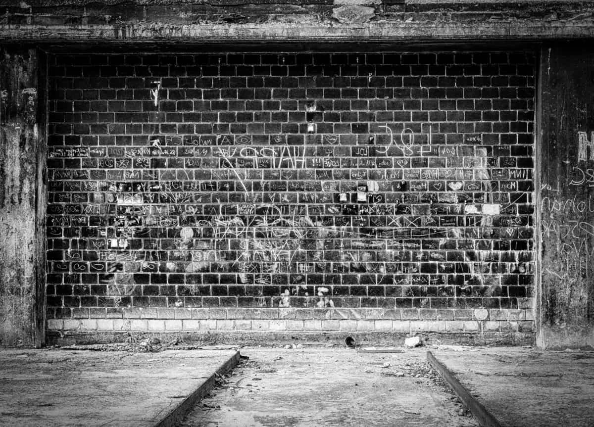 brick, street, retro, old, texture, ground, outdoor, monochrome