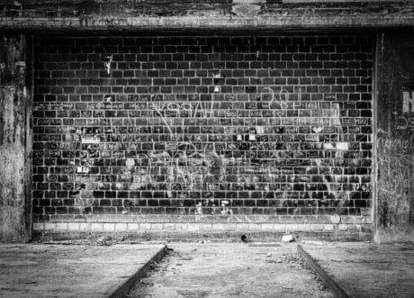 brique, rue, rétro, vieux, texture, sol, extérieur, monochrome