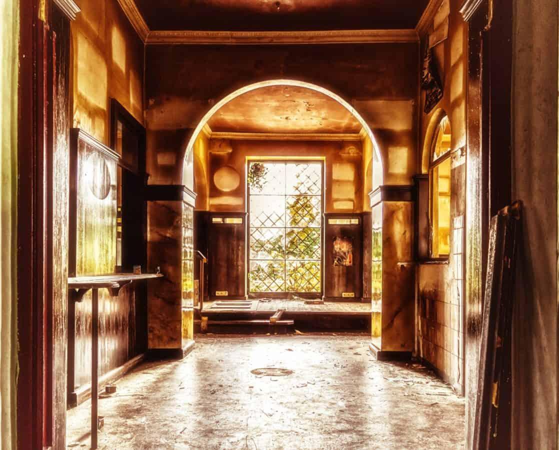 maison, porte, arche, architecture, interor, lumière, ombre, vieux