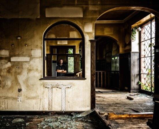 fenêtre, architecture, intérieur, mur, maison, personne