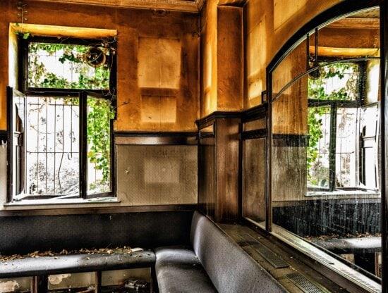maison, architecture, fenêtre, intérieur, bois, urbain