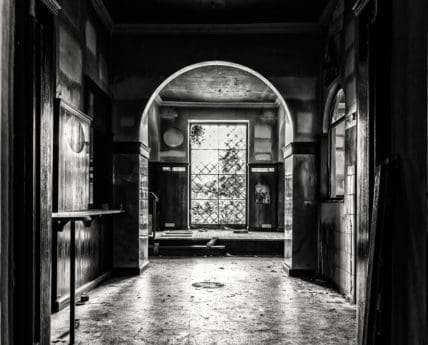 architecture, doorway, street, door, old, monochrome, shadow