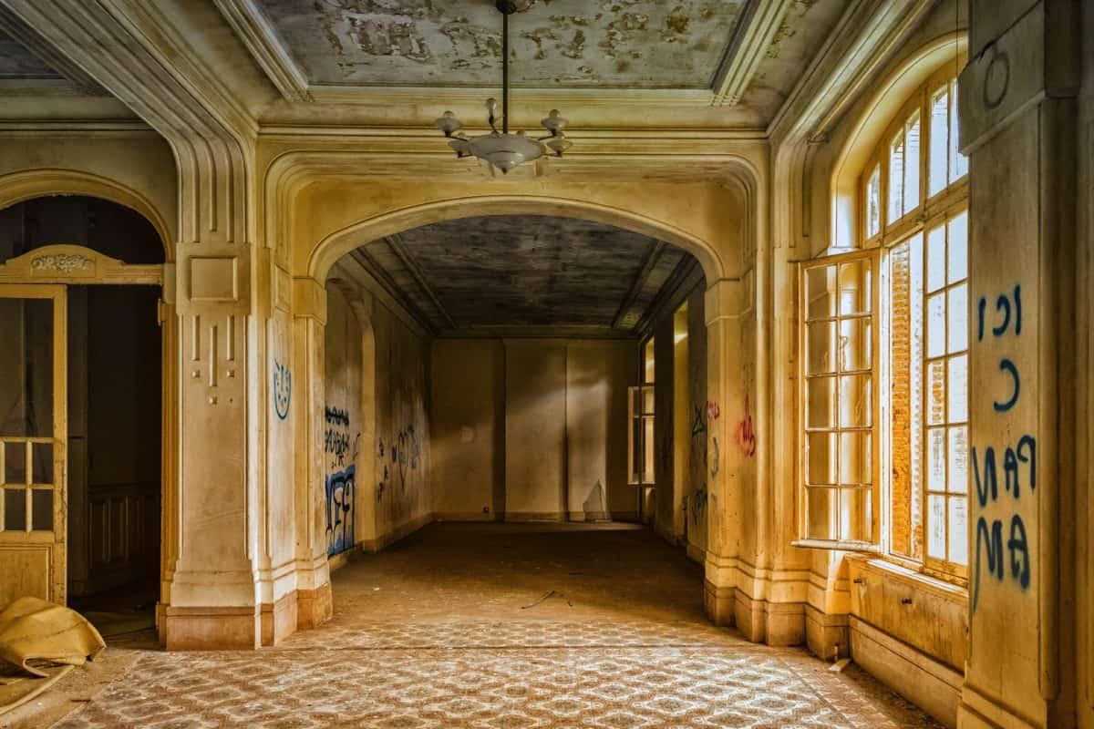 architecture, intérieur, maison, intérieur, graphite, mur