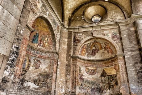 medieval, cathedral, fresco, art, interior, religion, church, old, architecture
