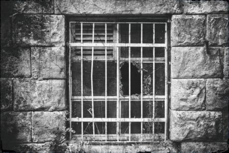 architecture, house, old, wall, window, monochrome, facade