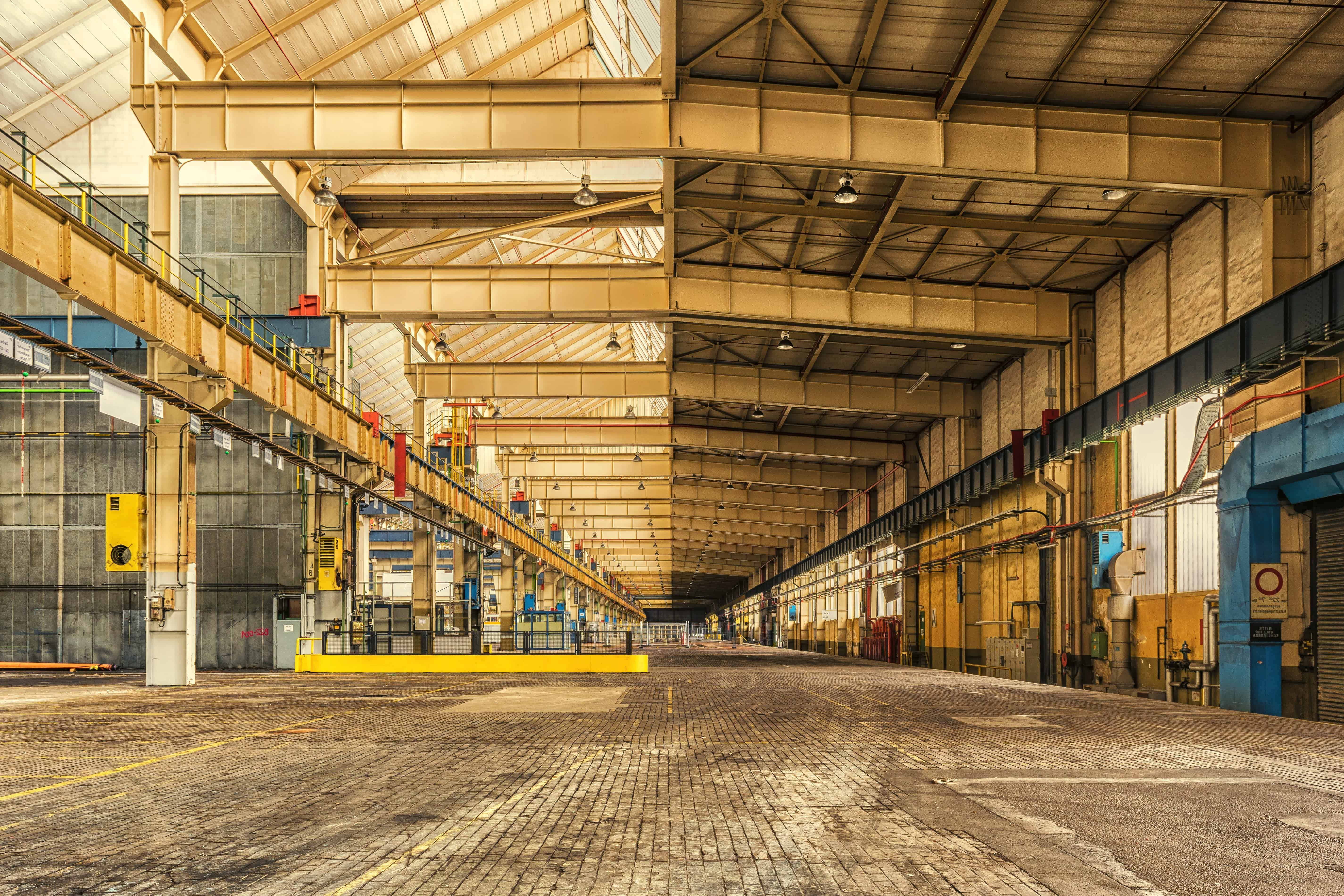 Free picture: warehouse, industry, construction, steel, architecture, indoor
