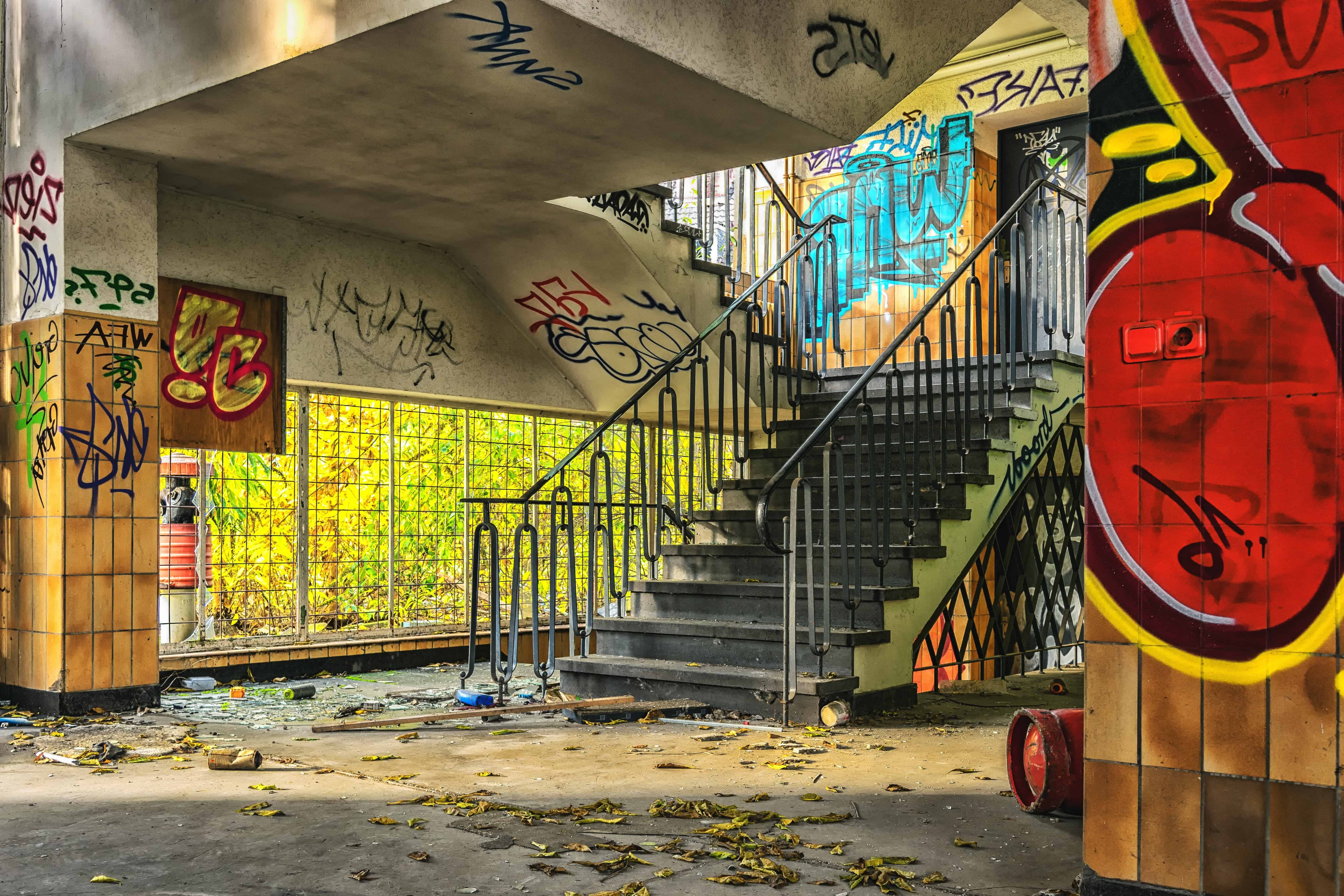 Free Picture Graffiti Street Stairs City Urban Colorful