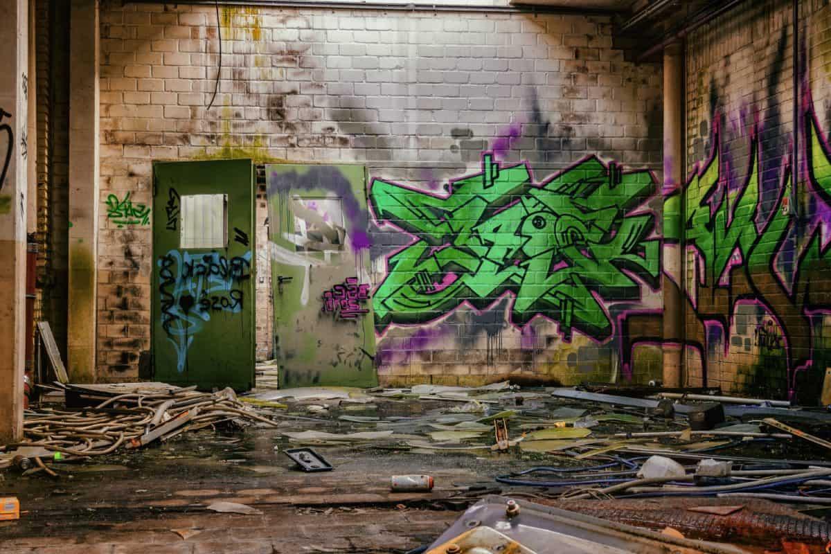 urbain, mur, art de rue, graffiti,