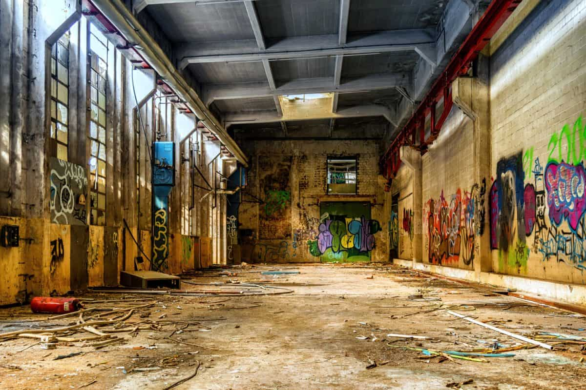factory, urban, graffiti, architecture, vandalism, wall, old