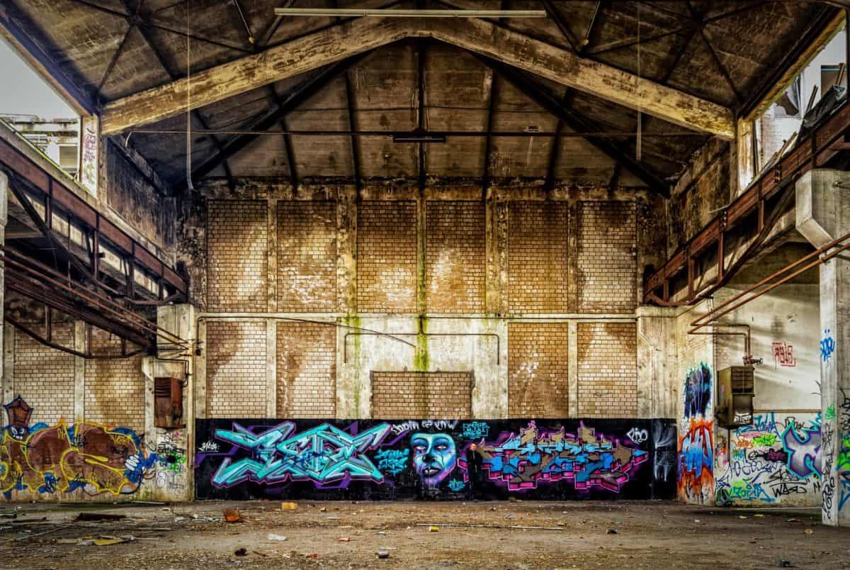 Fabrik, Architektur, Mauer, Ziegel, Industrie, alte, Graphit